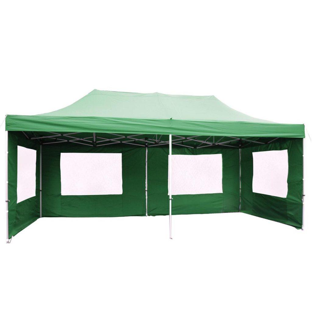 Nůžkový párty stan 3x6 m zelený